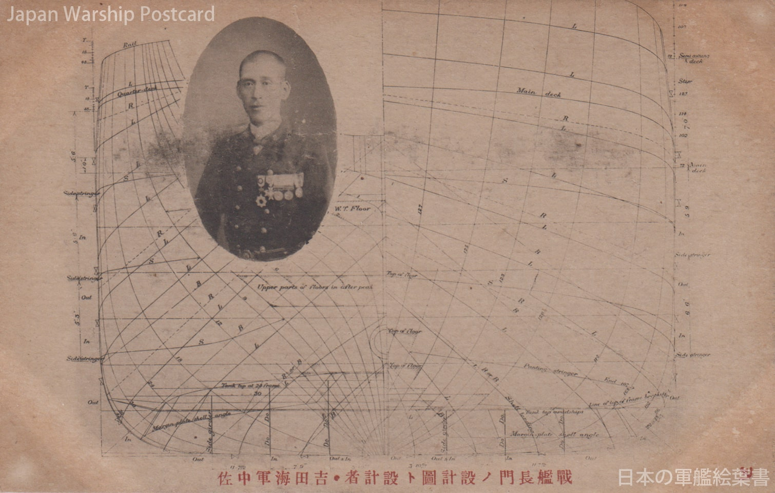 戦艦長門ノ設計図ト設計者・吉田海軍中佐